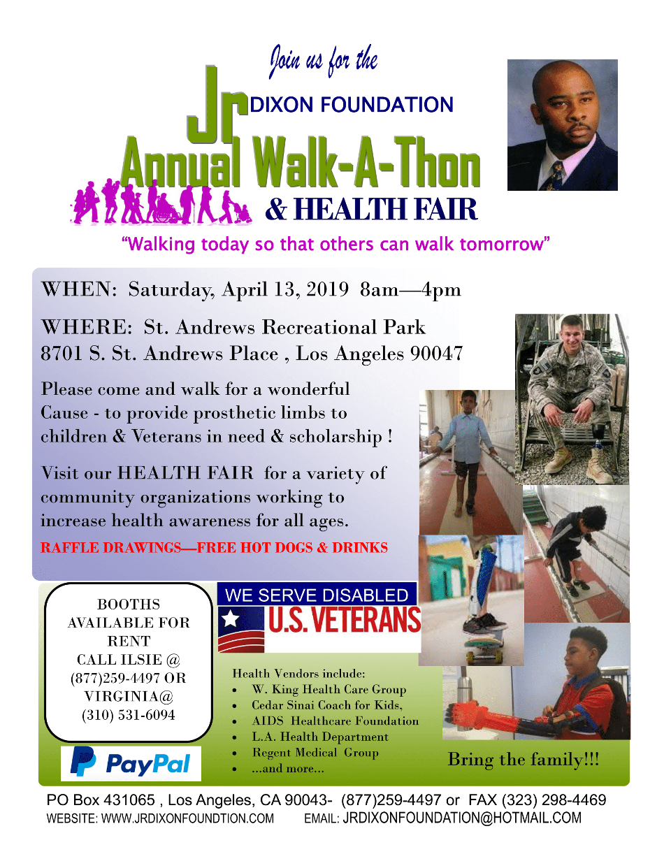 Annual Walk A Thon Flyer